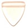 Glass Bead Triangle 17mm Transparent Rose Matt - Strung